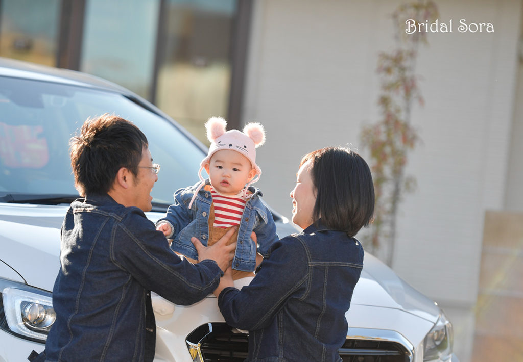 奈良 新居 家族写真