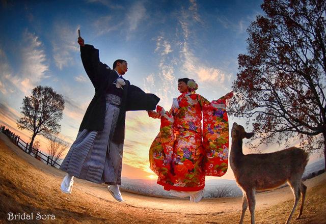 若草山 結婚式 撮影