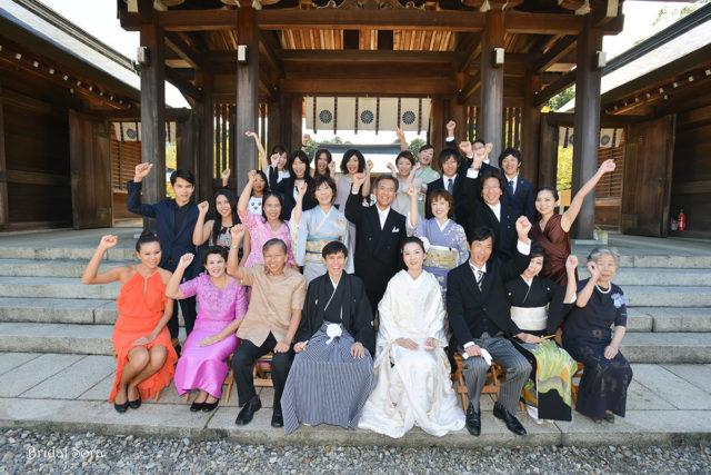 吉野神宮 結婚式 集合写真
